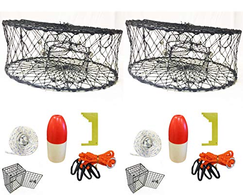 KUFA Sports Crab Trap Float 6x14 Inch Boat Moorage Buoy Trot Line Marker 2 Pack
