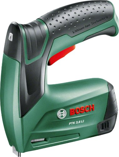 Bosch Home and Garden 603968100 accu-tacker PTK 3,6 LI (geïntegreerde accu, 3,6 volt, in metalen doos)