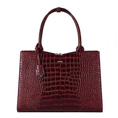 """Socha Businessbag Croco 14-15.6\"""" Crocodile Burgundy"""