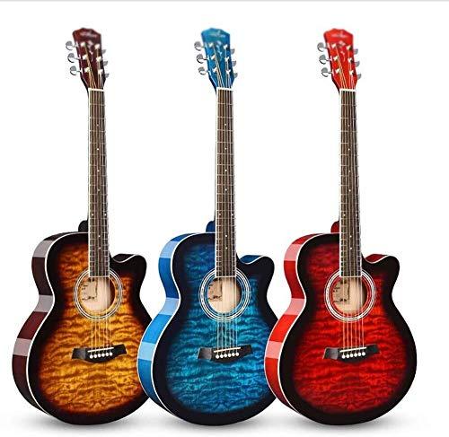Guitarra eléctrica Guitarra acústica Dreadnought guitarra clásica brillante 6 cuerdas Guitarra de...