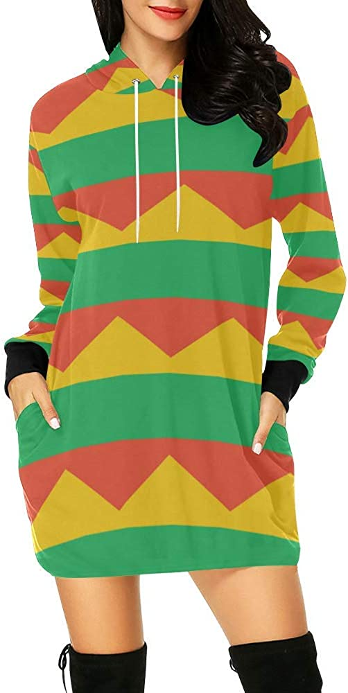 Lumos3DPrint Spasm discount price Lithuania Flag Women's Mini Dress Hoodie