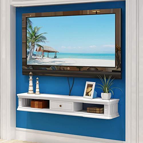 YZ Tv-Schrank-Wand-Hintergrund Storage Rack Open Frame Und Fach Dvd Satellitenfernsehen Box Kabelbox Wei