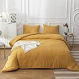 Jumeey Mustard Yellow Comforter King Dark Yellow Bedding Set for Women Girls Ginger Comforter Quilts King Size Blanket Boys Men Deep Yellow Bedding Comforters Sets King
