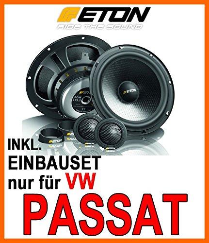Lautsprecher Heck - Eton POW 172.2 Compression - 16cm 2-Wege System - Einbauset für VW Passat 3C & CC - JUST SOUND best choice for caraudio