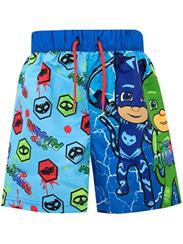 PJ Masks Costume da Bagno per Ragazzi a Due Pezzi Super Pigiamini Multicolore 2-3 Anni