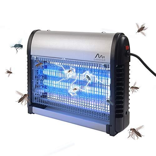 Gardigo 62400 - Zanzariera elettrica interno e esterno; Lampada Insetticida Ammazza zanzare con Luce UV Ultravioletta; Trappola per insetti