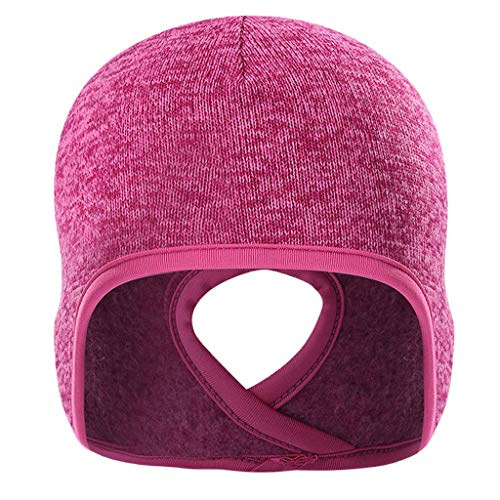 Générique Baoblaze Bonnet de Tête Tressé Polyester et Polaire pour Femmes Queue de Cheval Bonnet D'hiver - Rose, comme décrit