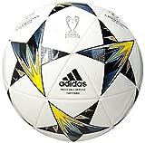 adidas Performance Champions League Finale Capitano Soccer Ball, White/Vapor Steel Grey/Tech Green, Size 5