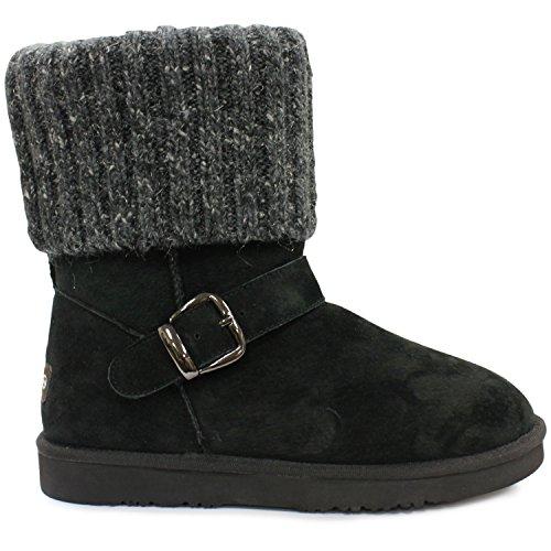 Lamo Women's Hurricane Fashion Boot Chelsea, Black, 6 M US