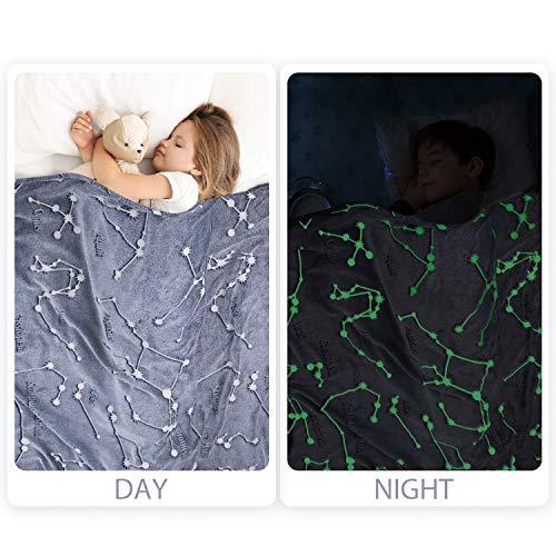 Product Image 5: Kanguru Glow in The Dark Constellation Blanket, Christmas Thanksgiving Blanket Gifts for Birthday Kids Women Girls Boy Best Friend