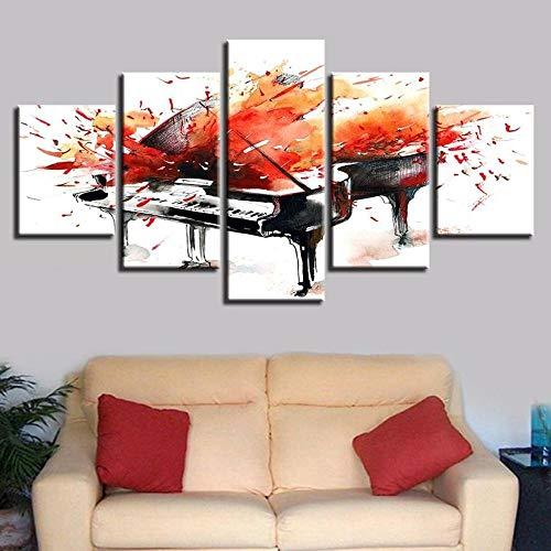 VYQDTNR 5 Piezas de Pinturas En Lienzo, ImpresióN de Pared, Imagen de Arte Moderno, DecoracióN del Hogar Plan de Salpicadura Pintura En Lienzo para Sala de Estar, Marco Interno