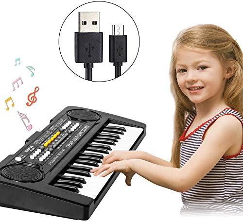 Shayson Digital Piano Keyboard,Mini 37-Tasten Kinder Elektronische Klavier Musik Wiederaufladbare Klaviertastatur für Baby Kinder