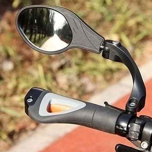 Nicoone Kierownica rowerowa przegląd wsteczne lusterko obrotowe 360 do rowerów górskich szosowych (w tym 1 x tylne lusterko do roweru/1 x uchwyt)