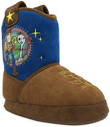 Toy Story Boy's Woody Boot Slippers (Brown, Numeric_9)