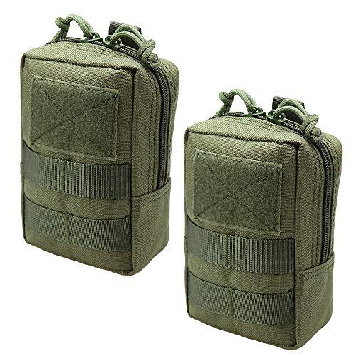 Magarrow Tactical Molle Pouch Multifunktions-Hüfttasche zum Aufhängen, Green- 2pcs