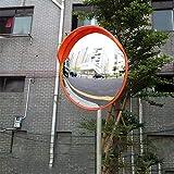 30-120CM凸型安全ミラー、路上および店舗の安全に適した耐久性のある道路交通ミラー交差点ターニングミラー(サイズ:45CM)