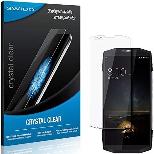 SWIDO Schutzfolie für Blackview BV9000 Pro [2 Stück] Kristall-Klar, Hoher Festigkeitgrad, Schutz vor Öl, Staub & Kratzer/Glasfolie, Bildschirmschutz, Bildschirmschutzfolie, Panzerglas-Folie