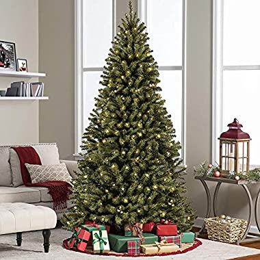 Best Choice Products 6ft Pre-Lit Spruce Hinged Artificial Christmas Tree w/ 250 LED Lights, Foldable Stand - Green