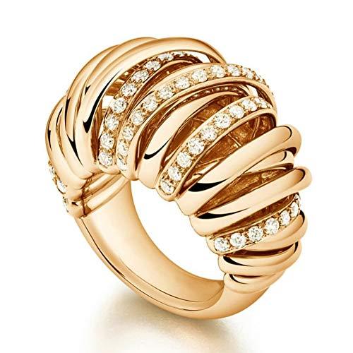 Cross Lines Cz Cubic Zircon Cz Rings For Women Bridal Engagement Wedding Dubai Gold Finger Rings 8 Gold