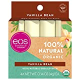 Vanilla Bean: Eos Natural & Organic Stick Lip Balm | Vanilla Bean | Certified Organic & 100% Natural | 0.14 Oz. | 4-Pack organic jojoba oil Jan, 2021