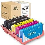 Superpage 903L 903XL Wiederaufbereitet Druckerpatrone Kompatibel für HP 903L für HP OfficeJet Pro 6860 6868 6960 6970 6975 6978 6950,(2XSchwarz 1XCyan 1XMagenta 1XGelb)