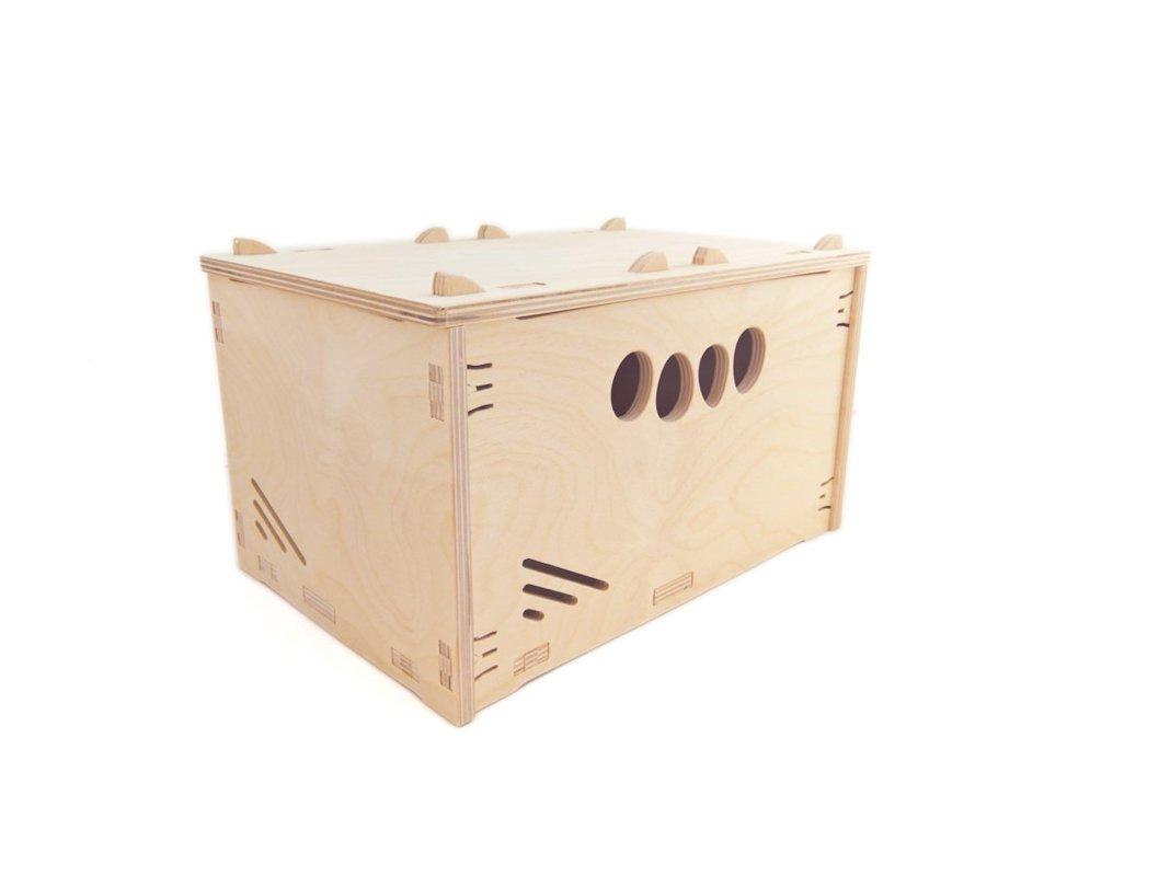MK Design hochbelast Caja de Herramientas de Bar de Madera Caja de Madera Natural 30 x 20 x 23 cm 9 litros, con Tapa Apilable Caja: Amazon.es: Hogar