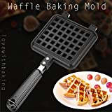 Non-Stick Waffle Maker Pan Household Kitchen Gas Mould Mold Press Plate Cooking Aluminum Baking Tool