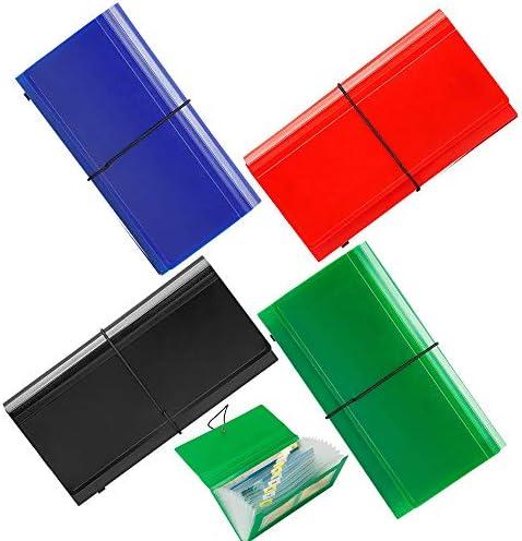 13 Pockets Expanding Check Bill File Folder XUCHUN 10 4 5 5 Expanding File Folder 4 Pack for product image