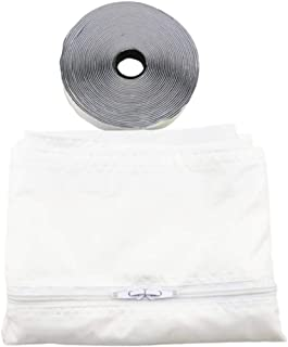 Irfora Window Seal Kit for Portable Air Conditioning Universal Sealing Zip Hose Vent (White)