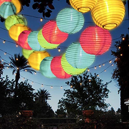 Solar Lichterkette Außen Lampions, FOCHEA Lichterkette Außen...