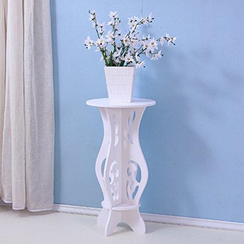 LT Weiße Blumen-Gestelle, Bodenregale, Balkon-Topfregal-dekorativer Rahmen ( größe : S )