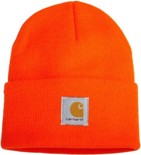 Carhartt Men's Knit Cuffed Beanie-Brite Orange-OFA