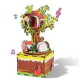 BBYaki Sueño Madera Música Juguete Caja 3D Rompecabezas DIY Asamblea con Regalos Creativos Internos Máquina Navidad, Cumpleaños, Día San Valentín Niños,Am408