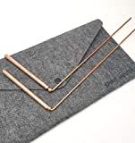 Spirit Hunter 99.9% Copper Dowsing Rod- 2PCS Divining Rods with Bag - Detect Gold, Water, Ghost...