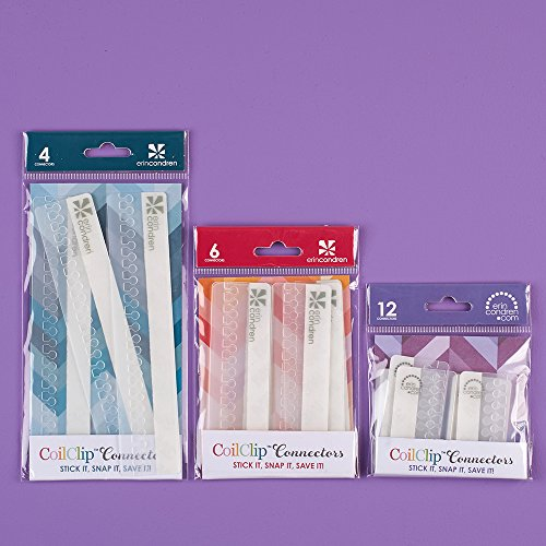 Erin Condren Designer Accessories - Planner Clear CoilClip Connectors Bundle Includes 22 Connectors in 3 Sizes 2', 4' & 6'. Snap - in for Spiral Notebooks and Planners