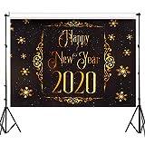 Telón de Fondo de Fotografía 2020 Fondo de Vinilo de Tema de Año Nuevo para Fotografía Celebración de Nochevieja Baby Shower Familia de Cumpleaños, 4 por 5 Pies