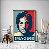 PHhomedecor Leinwanddrucke Poster,John Lennon Mind Games