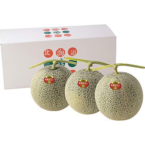北海道産 赤果肉メロン(3玉) お中元 専用品 2021年人気 ランキング