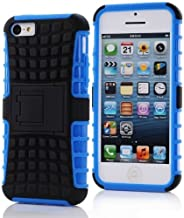 iPhone 5c Case, [Heavy Duty] iPhone 5C Rubber Case [Eternal Life Series] Shock Proof Hard Skin with [Rugged Protective] Cu...