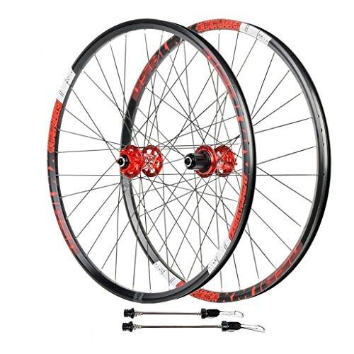 """Ruedas de Bicicleta MTB de 26 Pulgadas 27,5 """", Aluminio Liberación Rápida Rueda Hibrid Freno de Disco Admite Velocidad 8/9/10/11 (Color : Rojo, Size : 29in)"""