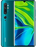 "Xiaomi Mi Note 10 Smartphone, 6 GB RAM + 128 GB ROM, Schermo 3D Curved Amoled 6.47"", Penta Camera 108 MP, Selfie camera da 32 MP, 5260 mAh, Verde (Aurora Green)"