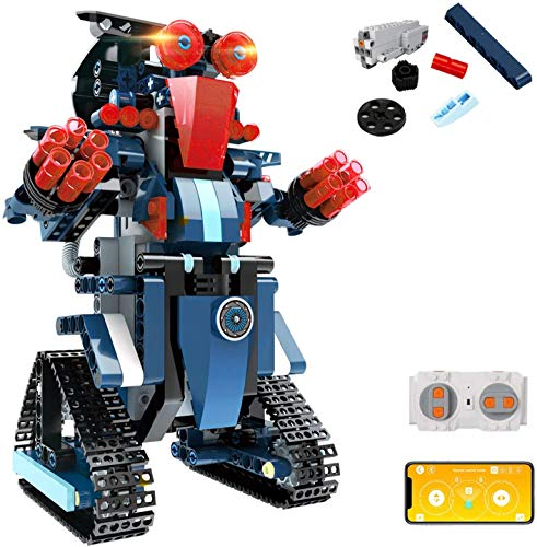 Aukfa Building Blocks RC Robot App Controlled Toy, Remote Control STEM Robot Toy, DIY Robotics Rechargeable RC Electronic Robots Funny Gift for 8+ Year Old Boys Girls ( 349 Pcs )