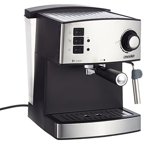 51k2Rz92pCL. SS500  - Adler Coffee Machine with 15 bar Pressure MS 4403, Black