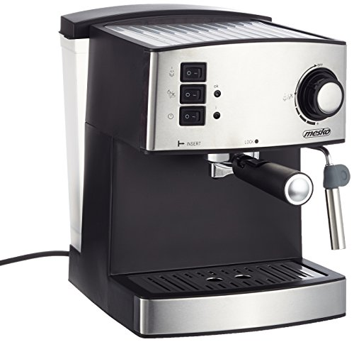 51k2Rz92pCL - Adler Coffee Machine with 15 bar Pressure MS 4403, Black