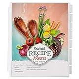 Samsill 8 Tab Recipe Dividers, Recipe Sleeves,...