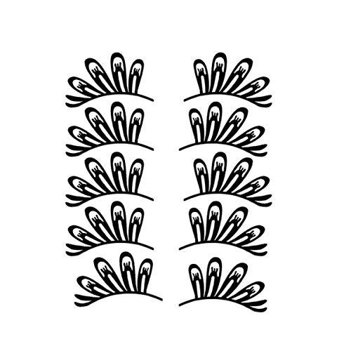 Minkissy 5 paires de papier faux cils papier de noël coupe cils pour noël festive vénitienne mascarade maquillage costume parti fournitures