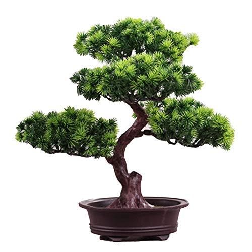 Dacitiery Árbol de pino artificial bonsái, decoración de plantas de pino en maceta, decoración de interiores y escritorios, decoración creativa de pino para decoración de oficina, hogar (estilo 2)