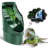 NOMOY Reptile Chameleon Drinking Fountain Water Dripper, Suitable for Snake, Gecko, Lizard, Chameleon, Bearded Dragon Water Dispenser Water Dish Bowl, Reptiles Habitat Waterfall & Tank Accessories Kit