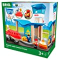 Brio World 33883 - Airport with Control Tower - Wooden Train Set Accessory - Compatible with All Wooden Train Sets by BRIO