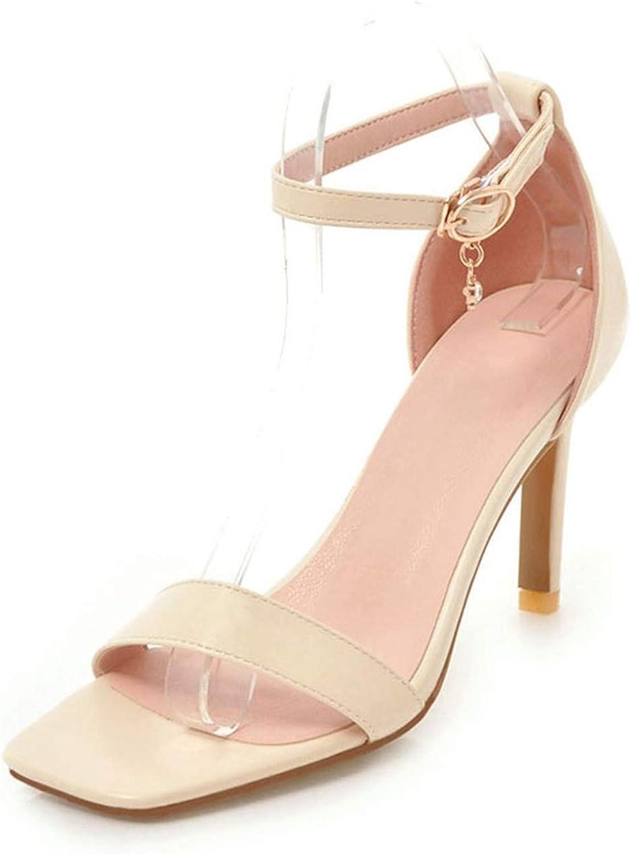 Elegant Thin High Heels Summer Sandals shoes Women Ankle-Strap Woman Sandal